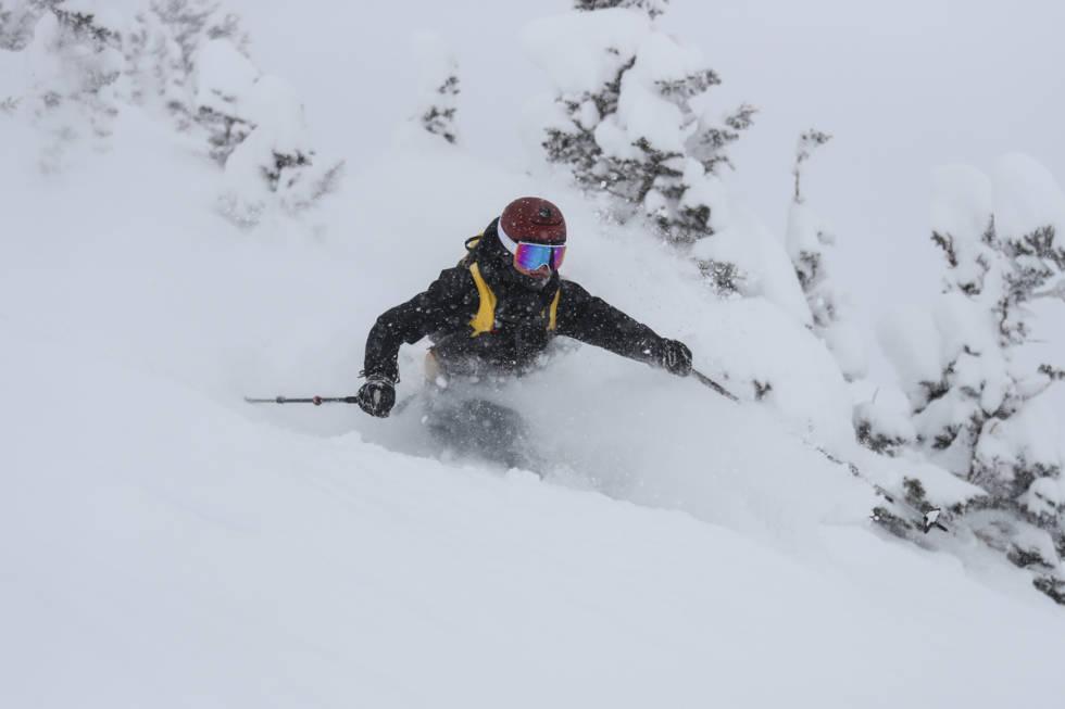 Veronica Strøm i Alta, Utah. Foto: Libby Ellis