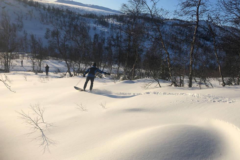 Magnus Barkved Olsen på sin første tur ned.
