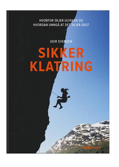 COVER: Boken Sikker klatring av Geir Evensen.