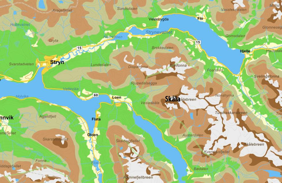 Kart Skåla topptur