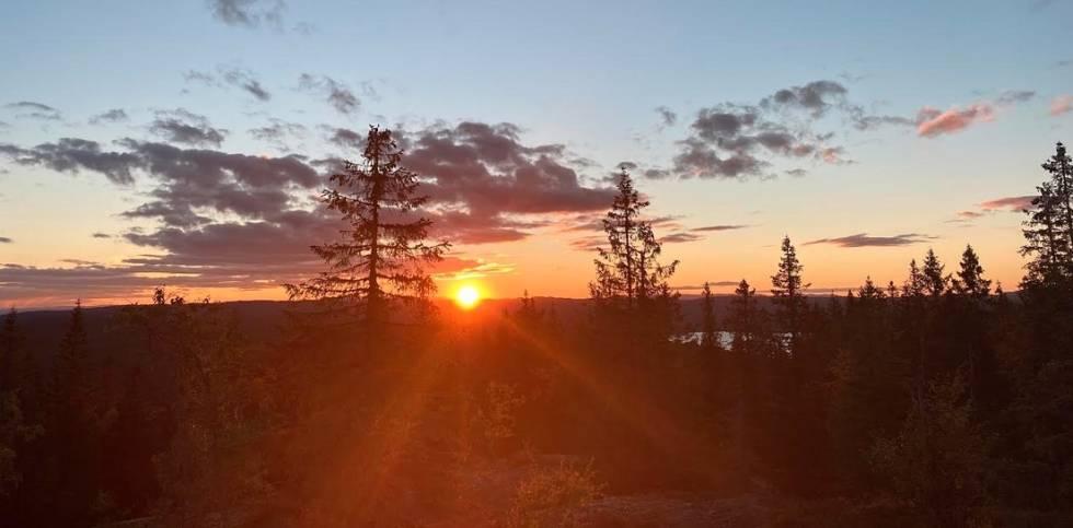 Kjerkeberget solnedgang