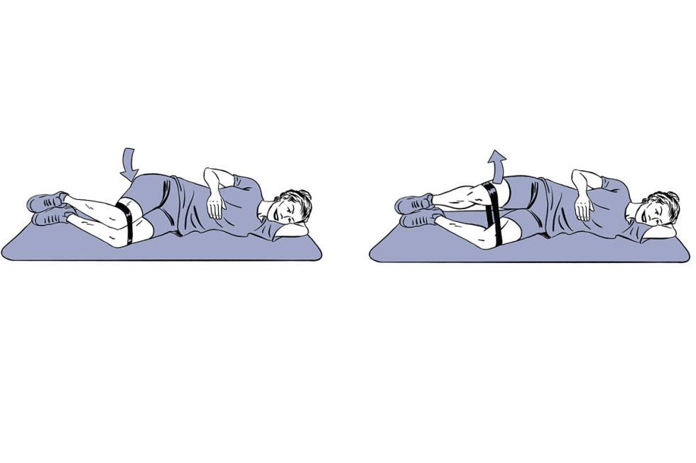 Trening rumpe ski clamshell