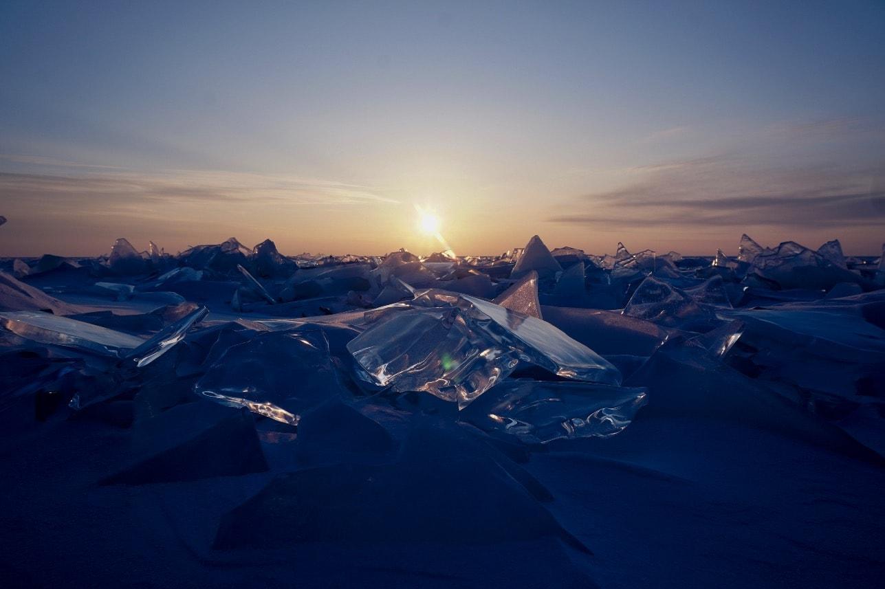 FROSSENT LANDSKAP: Gnistrende kaldt, vakkert og vilt.