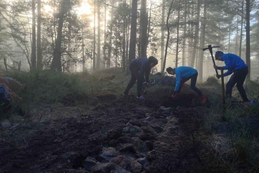 Nordfjord Folkehøgskule - am trail crew - Foto Tord Hafnor 1400x933