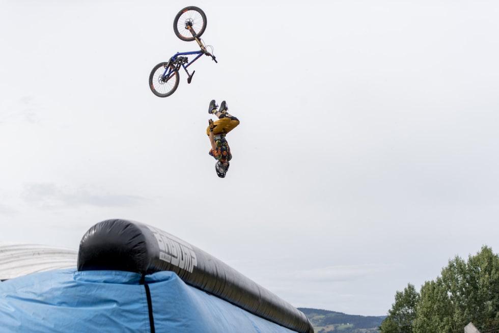 Luftige svev under helgas festival i Hafjell. Foto: Hafjell Bike Park/Gisle Johnsen