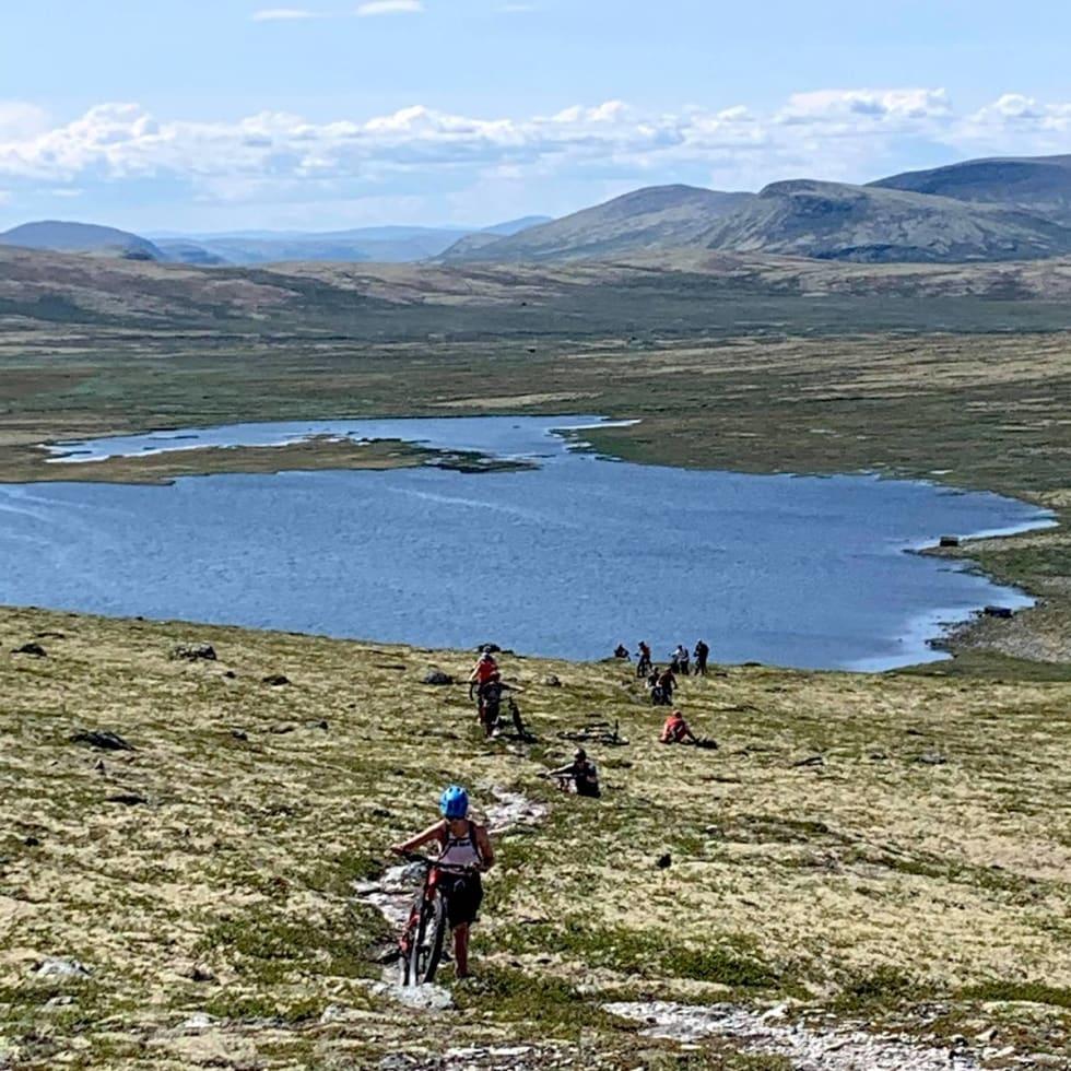 Tolga Østfjell var en stitur på drøyt 25 kilometer, fra fjell til dal og afterbike på butikklåven til Anders Urseth i Tolga Sykkelmekka. Foto: Anders Urseth