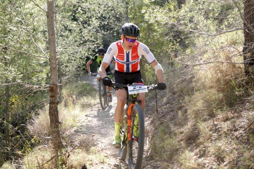 Petter Fagerhaug og makker Vlad Dascalu vant siste etappe i det fire dager lange Costa Blanca Bike Race . Foto: Martine Opsahl
