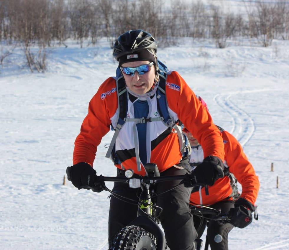 Trond Olsen har designet og bygget fatbikesdegmentet Smørstadjordet Fatbike. Foto: Stig-Ronny Nilsen