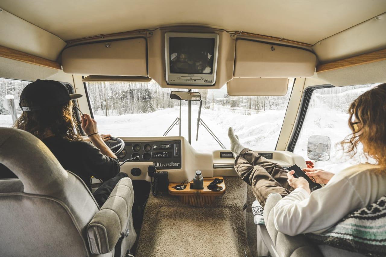 Campinglandslaget, whistler, bobil, pudder