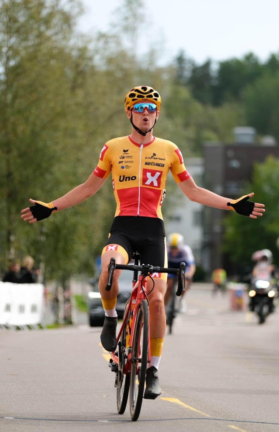 SEIER: Idar Andersen fra Gauldal SK/Uno-X Norwegian Development Team tok seieren Foto: Mikkel Skretteberg/sportsfoto.no