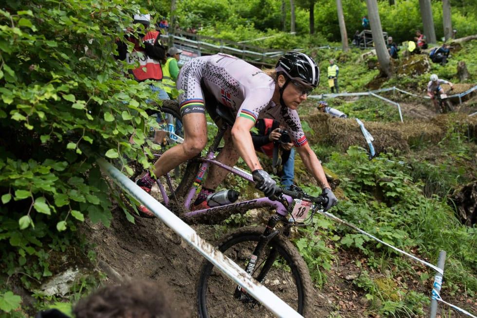 Gunn-Rita Dahle Flesjå under verdenscupen i rundbane i Albstadt i Tyskland i fjor. Foto: Bengt Ove Sannes