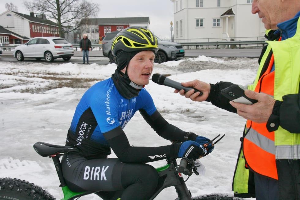 Audun Øverbye Hanssen vant dobbelthelga med Lygna Fatbike og Stomperudrittet i helga. Nå reiser han til Alta for å sykle Skogen Fatbike etterfulgt av Skaidi Fatbike, som er årets tjukksykkel-NM. Foto: Per Hannaseth