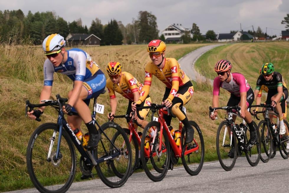 GJØR JOBBEN: Mathias Skretteberg tok sin tørn i front. Foto: Mikkel Skretteberg/sportsfoto.no