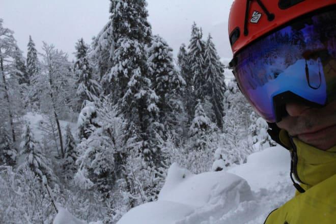 Skogstur. Nydelig snø, men vanskelige å holde farten.