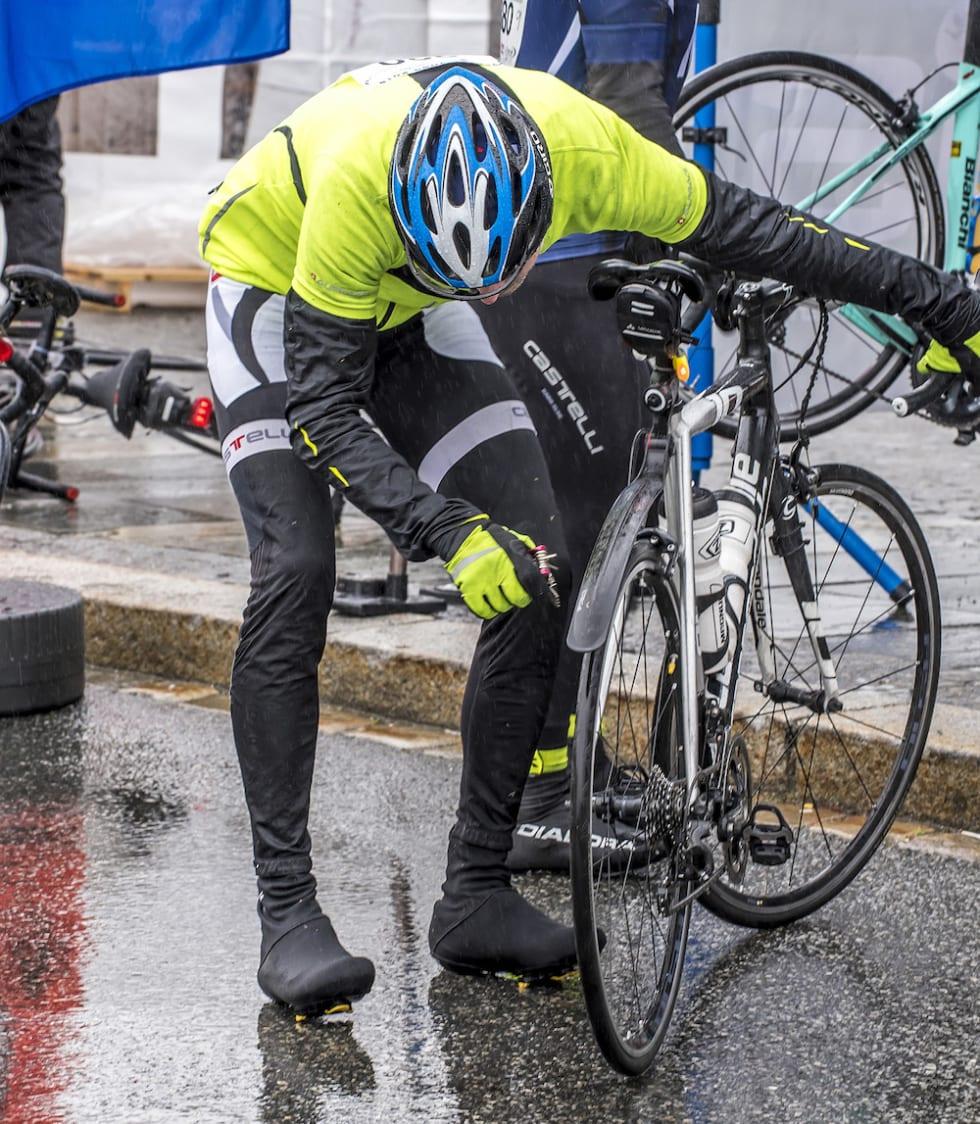 SKJERMER: De som har syklet på Vestlandet ofrer gjerne noen ekstra gram  på skjermer. Foto: Tom Guldbrandsen