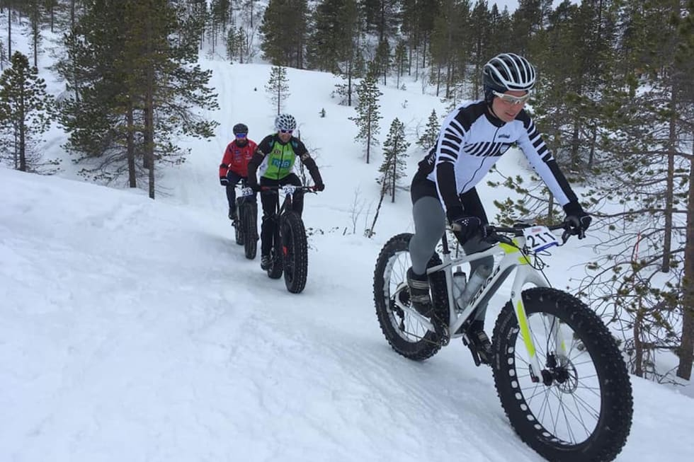 Daniel B. Leirbakken vant rubbel og bit i de nordnorske rittene i 2018. Her fra Skogen Fatbike. Foto: Nerskogen IL Sykkel