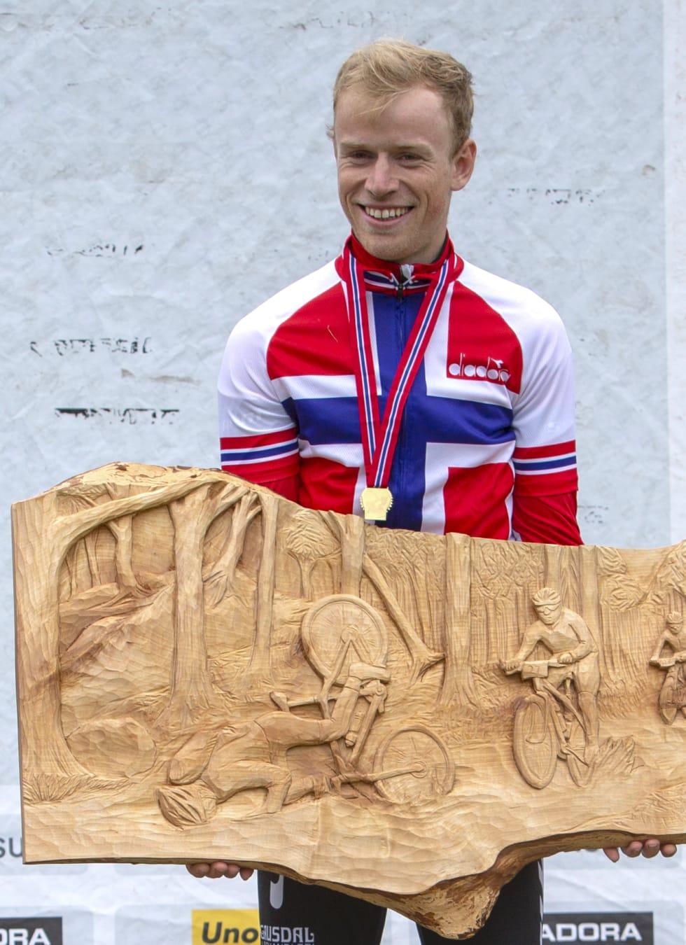 Ole Hem tok sitt første NM-gull på seniornivå under Å i Heiane i fjor. Det vil han forsvare i år. Foto: Arrangøren