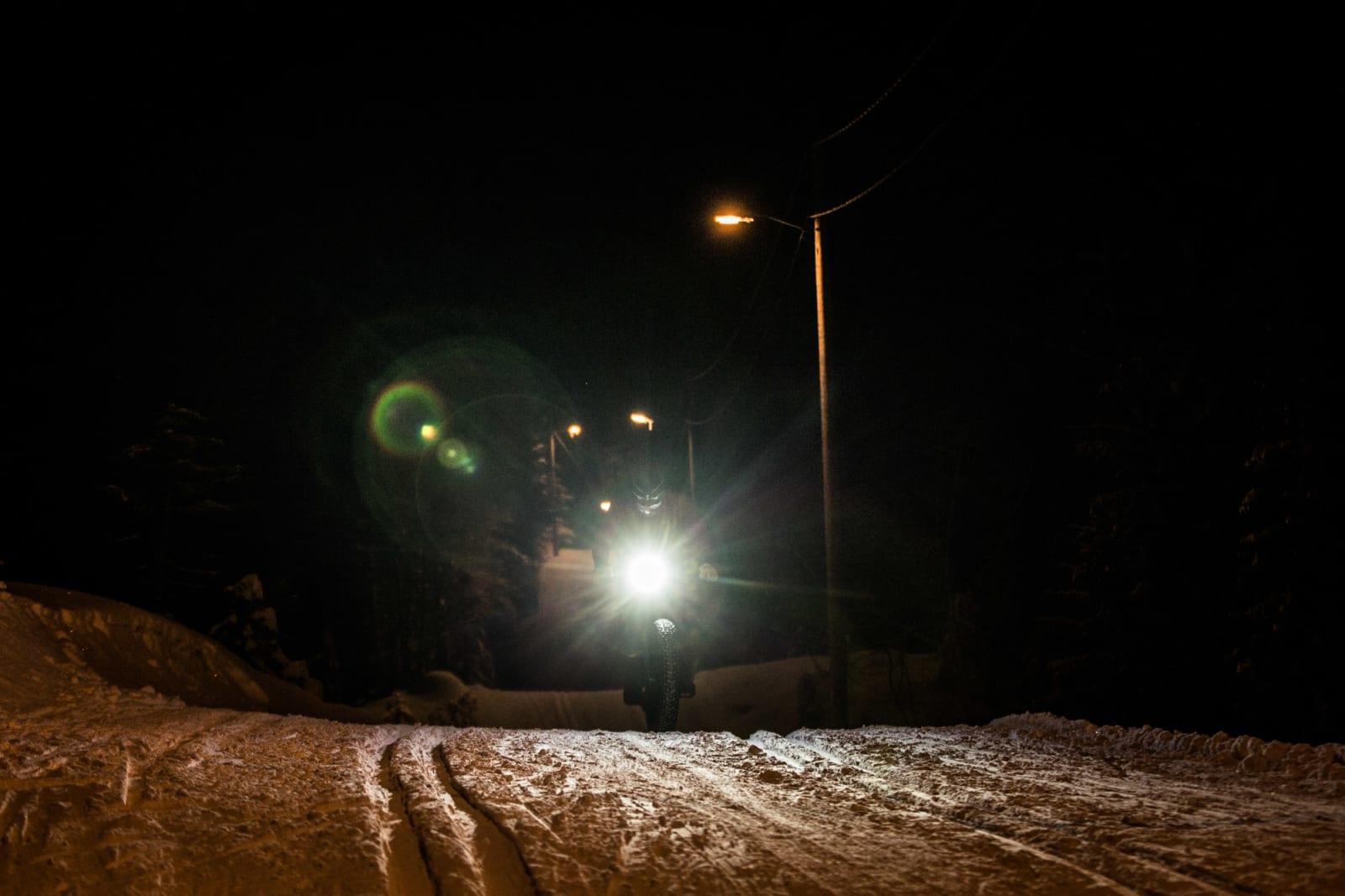 Lys i vintermørket.