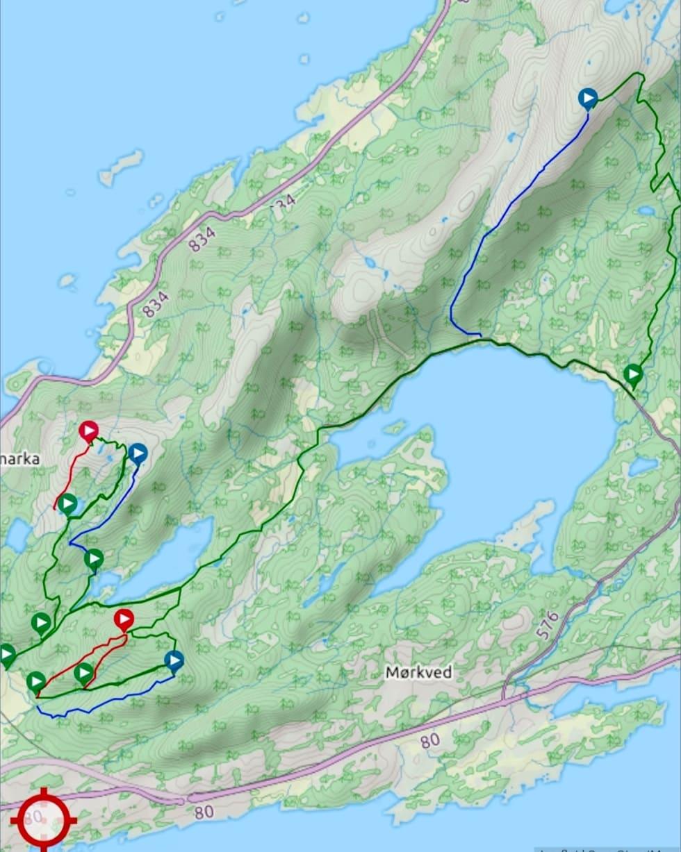 Bodø Enduro 2019 etappekart