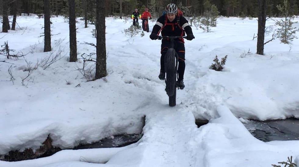 Fatbikemiljøet i Lillehammer gleder seg over at vinterløypene rundt Abbortjern kan preppes også denne vinteren og framover. Foto: Tom Ruud