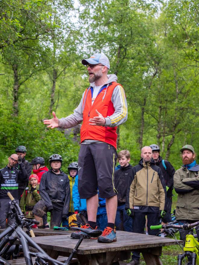 Rittleder Andreas Klette ledet fjorårets ryttermøte foran første etappe, som også da ble kjørt lørdag kveld. Foto: Frode Koppang