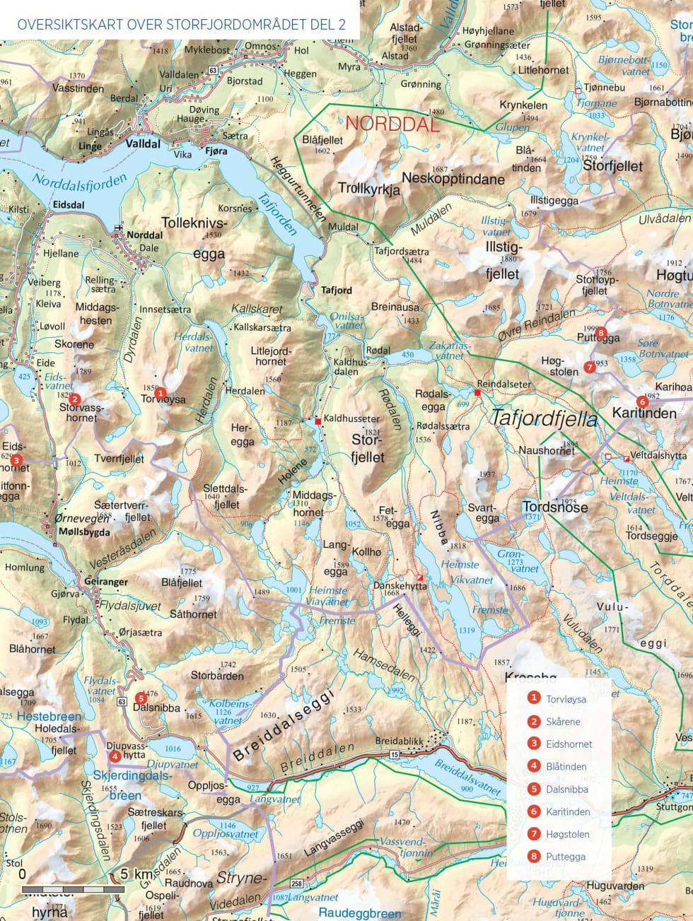 Oversiktskart over Storfjordområdet del 2.