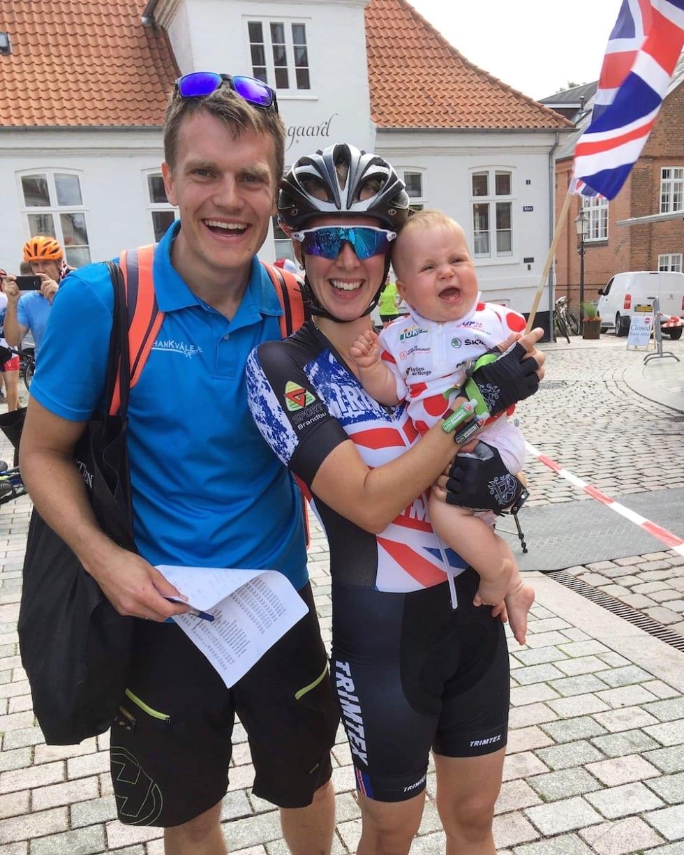 Emily Benham Kvåle gir familien en stor del av æren for suksessen i mesterskapscomebacket, både Hans Jørgen Kvåle og datteren Jenny, så vel som foreldre. Foto: Privat