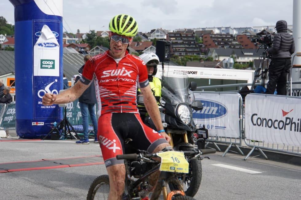 Ole Hem vant den første utgaven av Nordsjørittet MTB. Foto: Stine Haraldseth