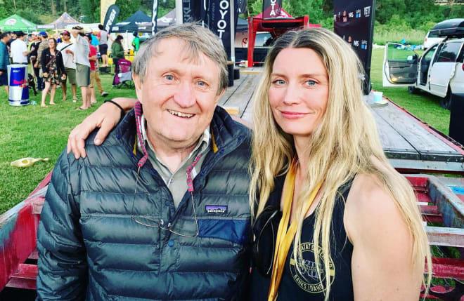 LEGENDER: Mariann Sæther ble nok en gang verdensmester i bratt elvepadling. Her er hun sammen med en annen legende; Rob Lesser under VM på Payette river Idaho. Foto: David Sodomka
