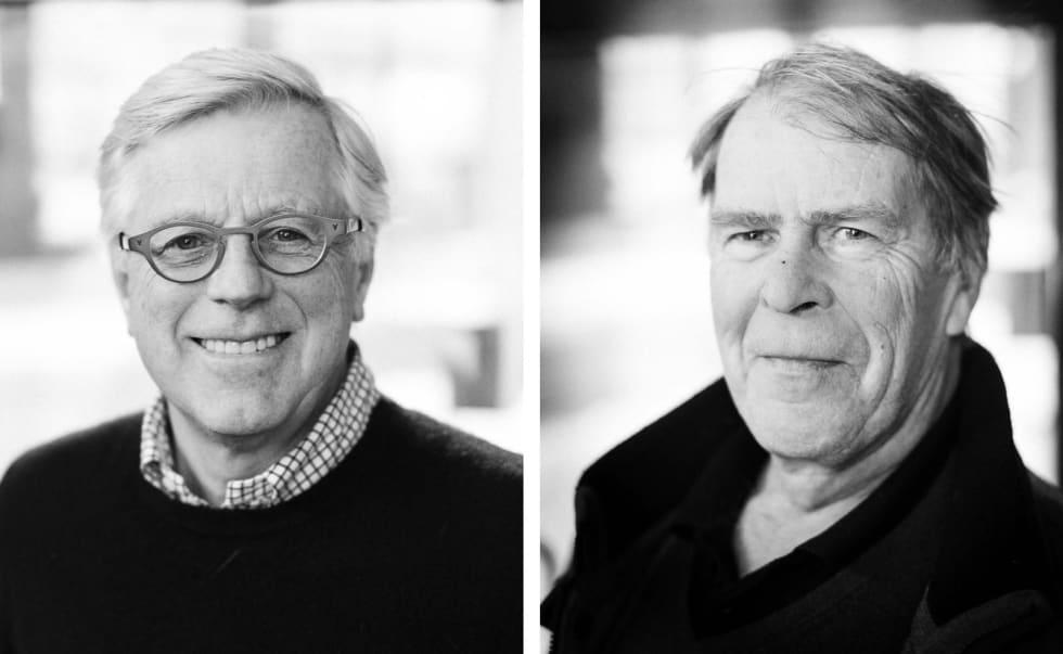 Dag Schartum-Hansen t.v, og Heikki Dahle fra NCF t.h. Foto: NSW/ RIFT arkitekter, Trollvegg arkitekter og Henrik Alpers.