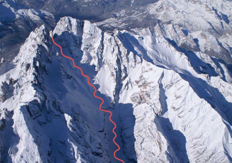 Monte Cristallo med rute