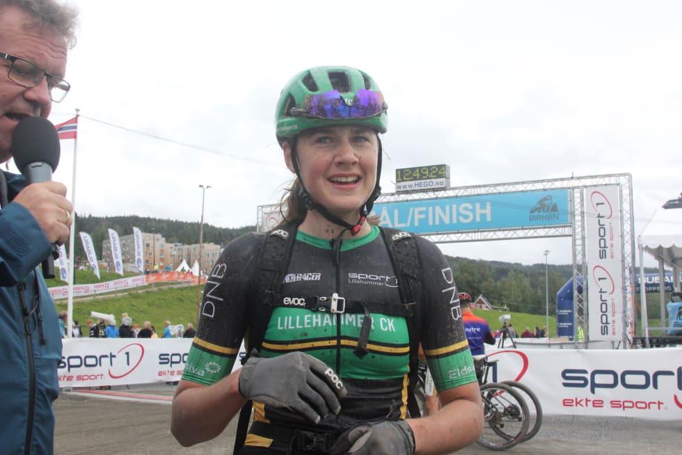Hedda Brenningen Bjørklund ble nummer åtte totalt i kvinner elite. Foto: Ingeborg Scheve