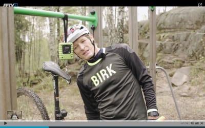 INNVEING: Birk Attack-sykkelen i filmen veide 11,5 kilo uten vekter og 14,5 kilo med bly på.
