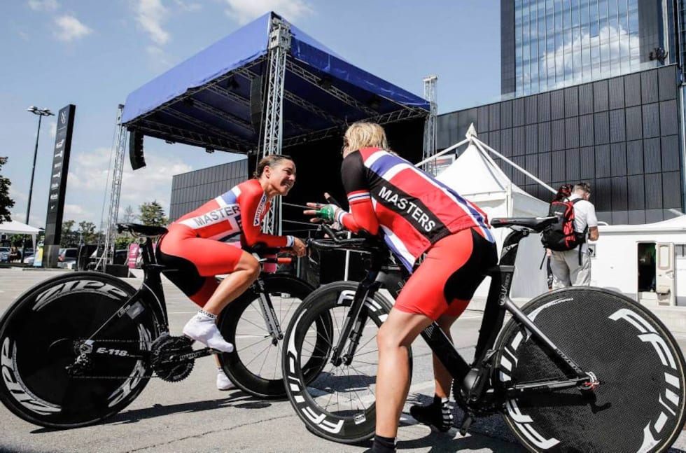 Kristin Falck - Trine Hansen - VM Master 2014 - UCI