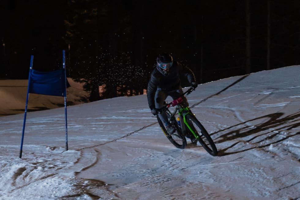 Magnus Slinger Sørli vant Hakadal Enduro Snowhill sist lørdag. Foto: Morten Dodson