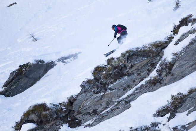 NORGES BESTE HERREMANN: Stinius Hoseth Skjøtskift fra Oppdal er Norges beste på FWQ-rankingen. Her fra mandagens to-stjerners konkurranse i Verbier. Foto: FWQ