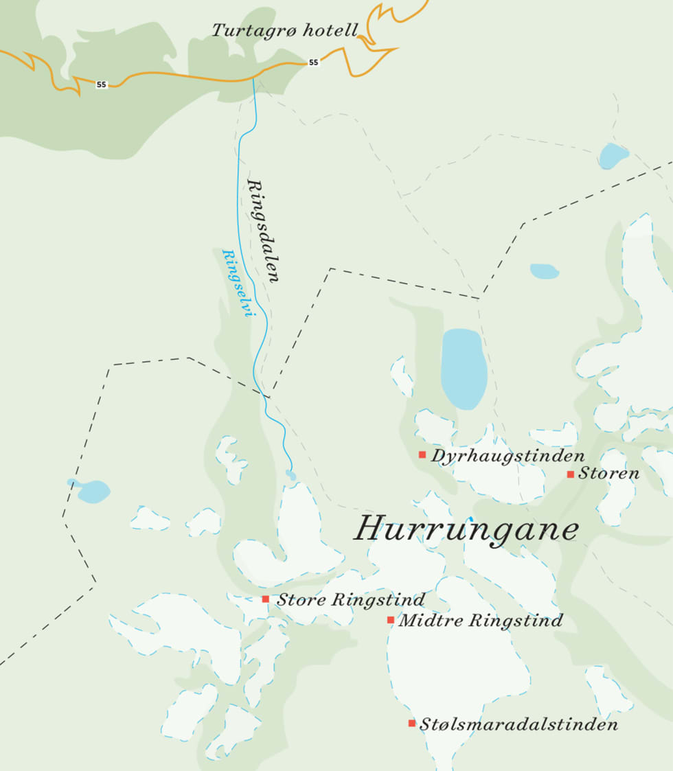 Stølsmaradalstinden_kart