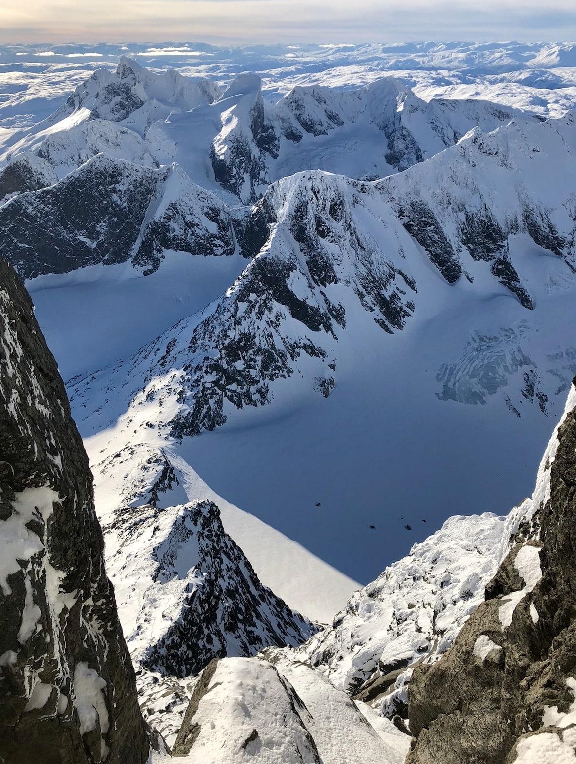 storen jotunheimen skagastølstind vinter klatring