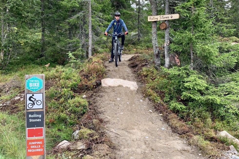 Hele Rolling Stone vil være av rød gradering og setter større krav til syklistene enn Magic Moose, den første heisbaserte stien i Trysil. Foto: Olve Norderhaug