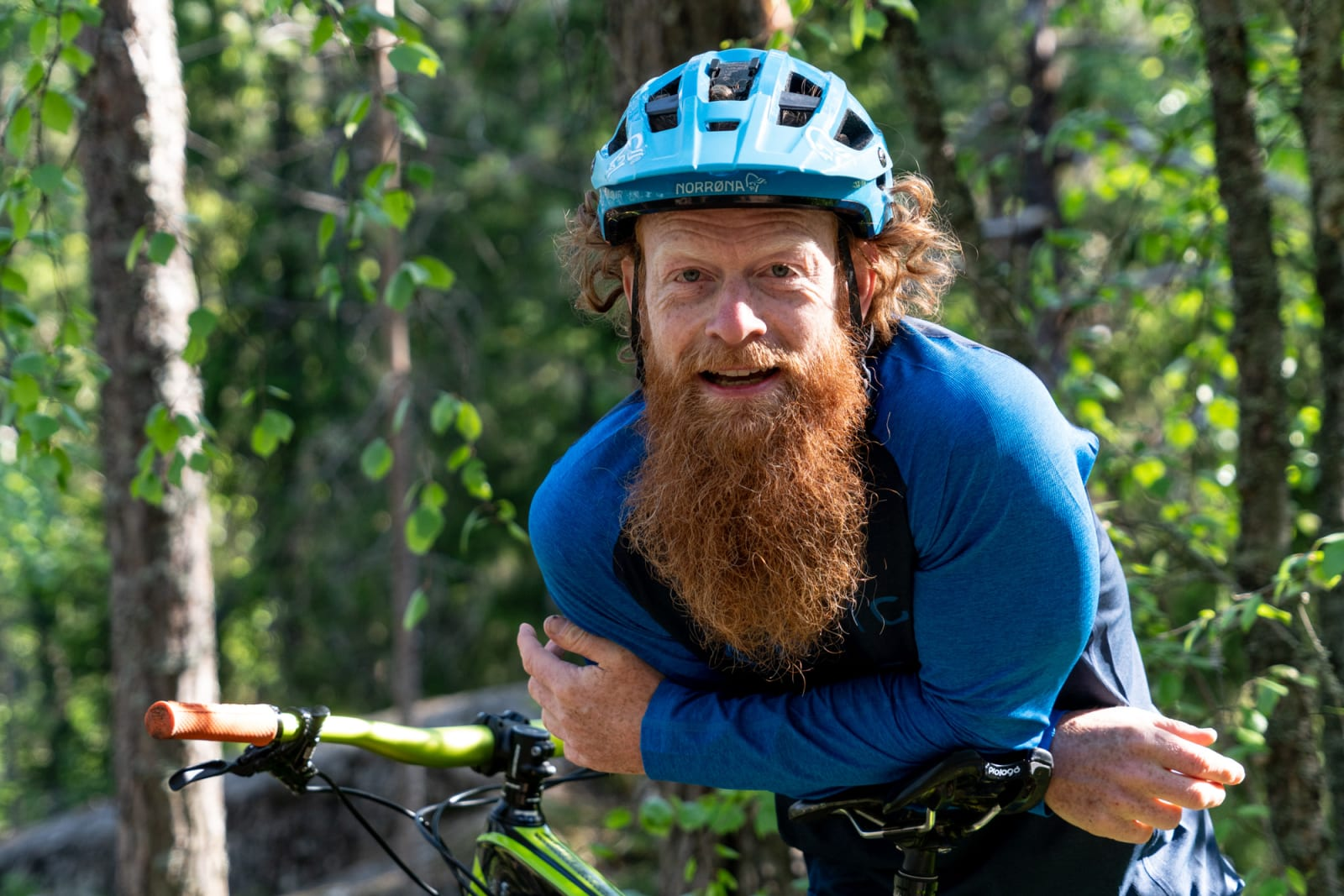 COACH: Aslak Mørstad livnærer seg på terrengsykkelkurs, og burde kunne ha noen god innspill til de fleste som skal stå på startstreken av et sykkelritt. Til helgen er det Terrengsykkelrittet. Bilde: Christian Nerdrum