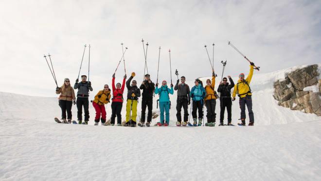 FESTIVAL: Fint vær og nok snø under toppturfestivalen i Rosendal. Foto: Rolf Christian Mehl