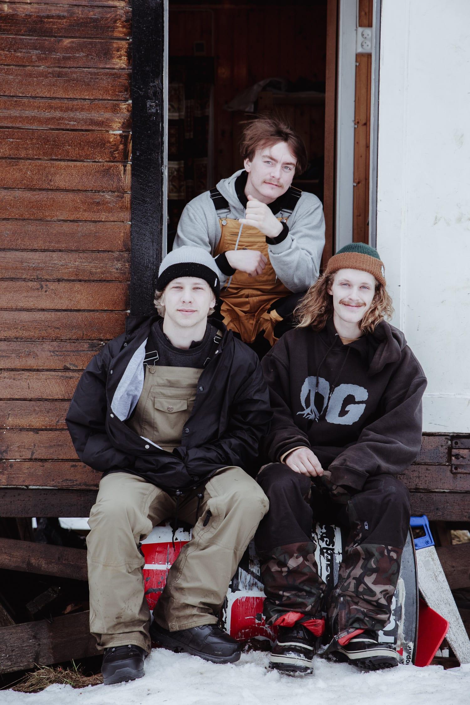 Fra venstre Håkon Haslum, Håvard Roald og Stian Karlsen