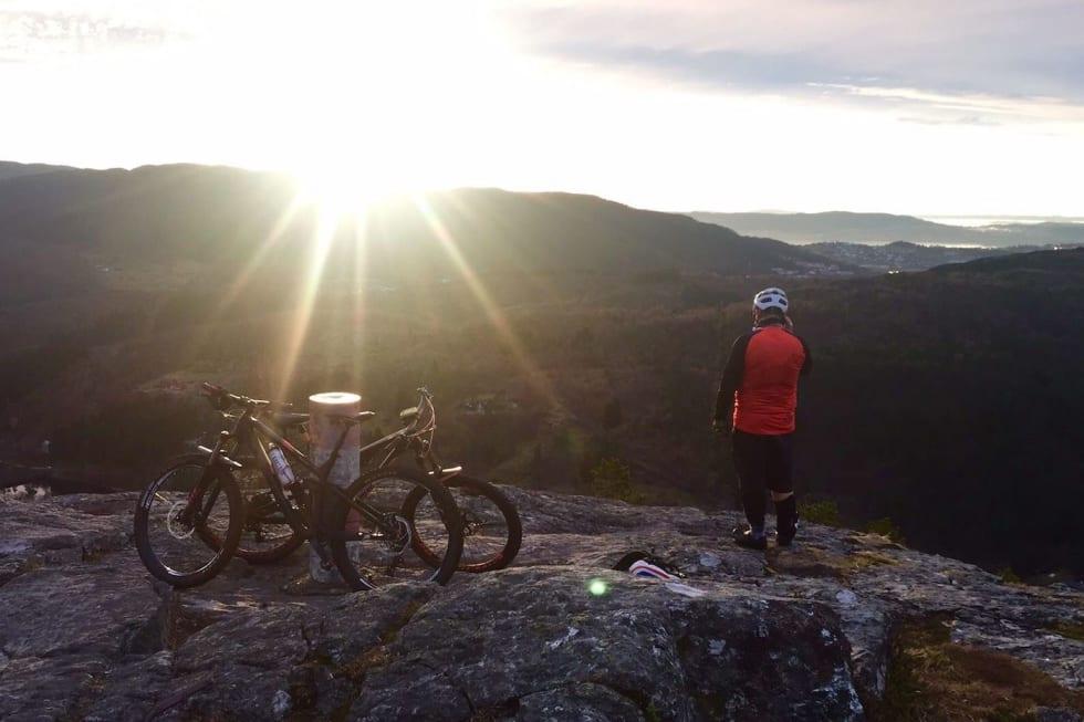 Fra den første etappen i BergEnduro, som lå ute til 30.november. Foto: Kristian Fauskanger