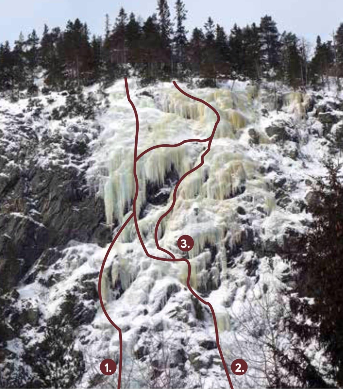 Hørtekollen isklatring Drammen