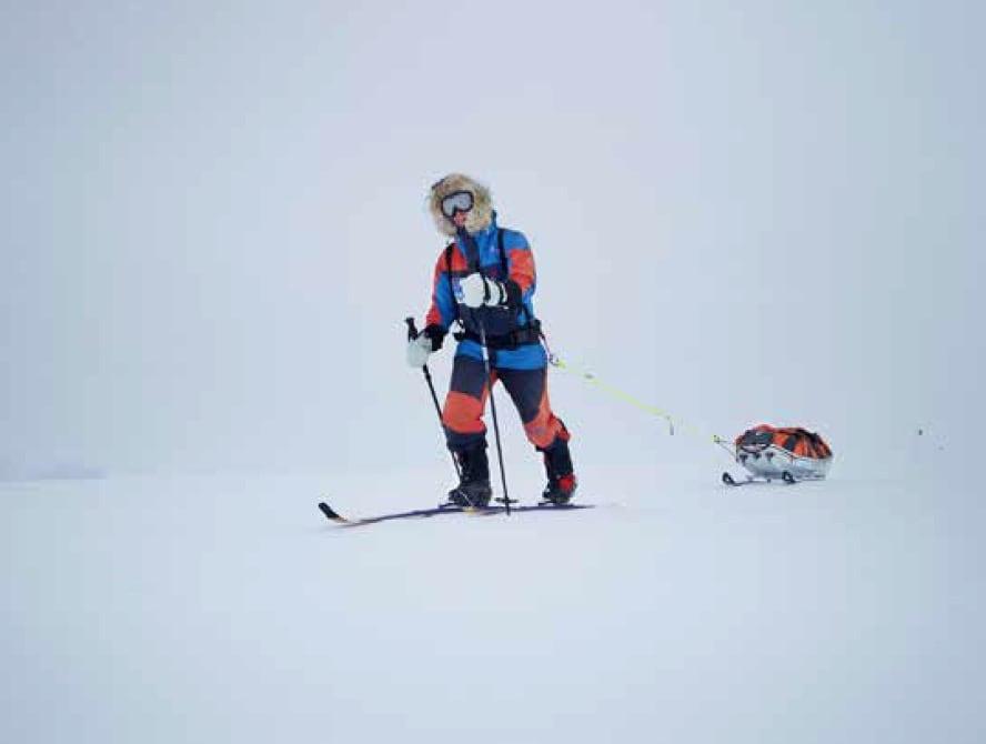 FORBEREDELSER: Johanna har brukt Svalbard til å trene seg opp mot den store ekspedisjonen til Sydpolen. Foto: Privat