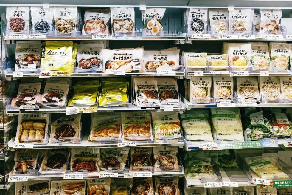 Konbini: Utvalget av varm og kald mat på de mange konbinis er nesten ubegrenset.