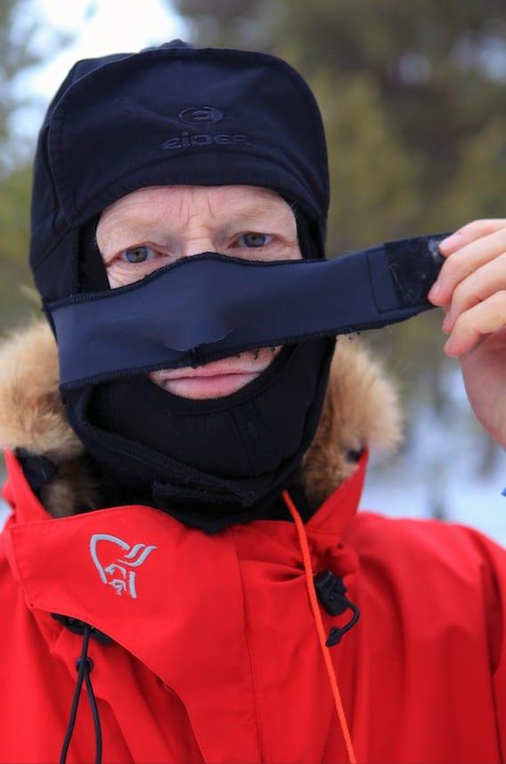 GODT RÅD FRA BØRGE: En god ansiktsmaske, gjerne i neopren.