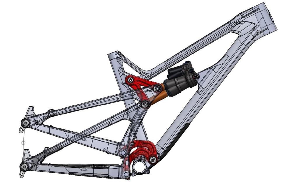 HJULBANE: Bakhjulet beveger seg i en svak omvendt S gjennom vandringen som hele veien er lett progressiv.
