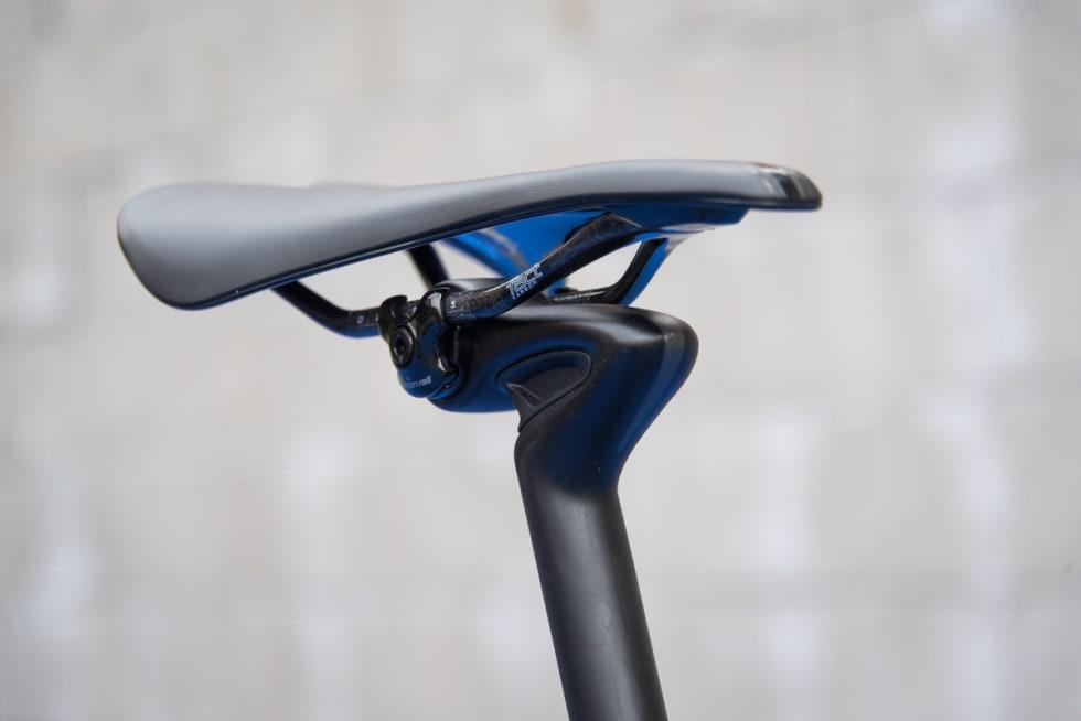 STYGG: Men effektiv. Setepinnen tilfører sykkelen masse komfort.