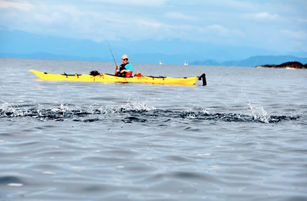 DET KOKER: Kristin komme fiskebåtene i forkjøpet
